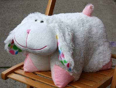 18 large bunny stuffed animal pillow pet plush toy folding bed cushion white ebay. Black Bedroom Furniture Sets. Home Design Ideas