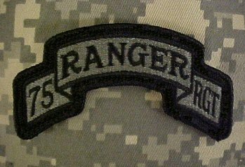 75th Ranger Regiment ACU patch - FREE SHIPPING!!!