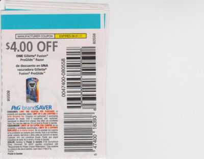 Gillette fusion coupon