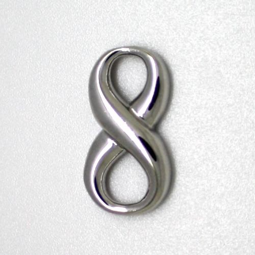 small Solid Sterling Silver INFINITY connector silver infinity symbol eternity