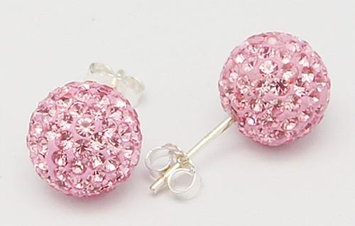 DISCO-BALL-shamballa-stud-earrings-6mm-Swarovski-crystal-Sterling-silver