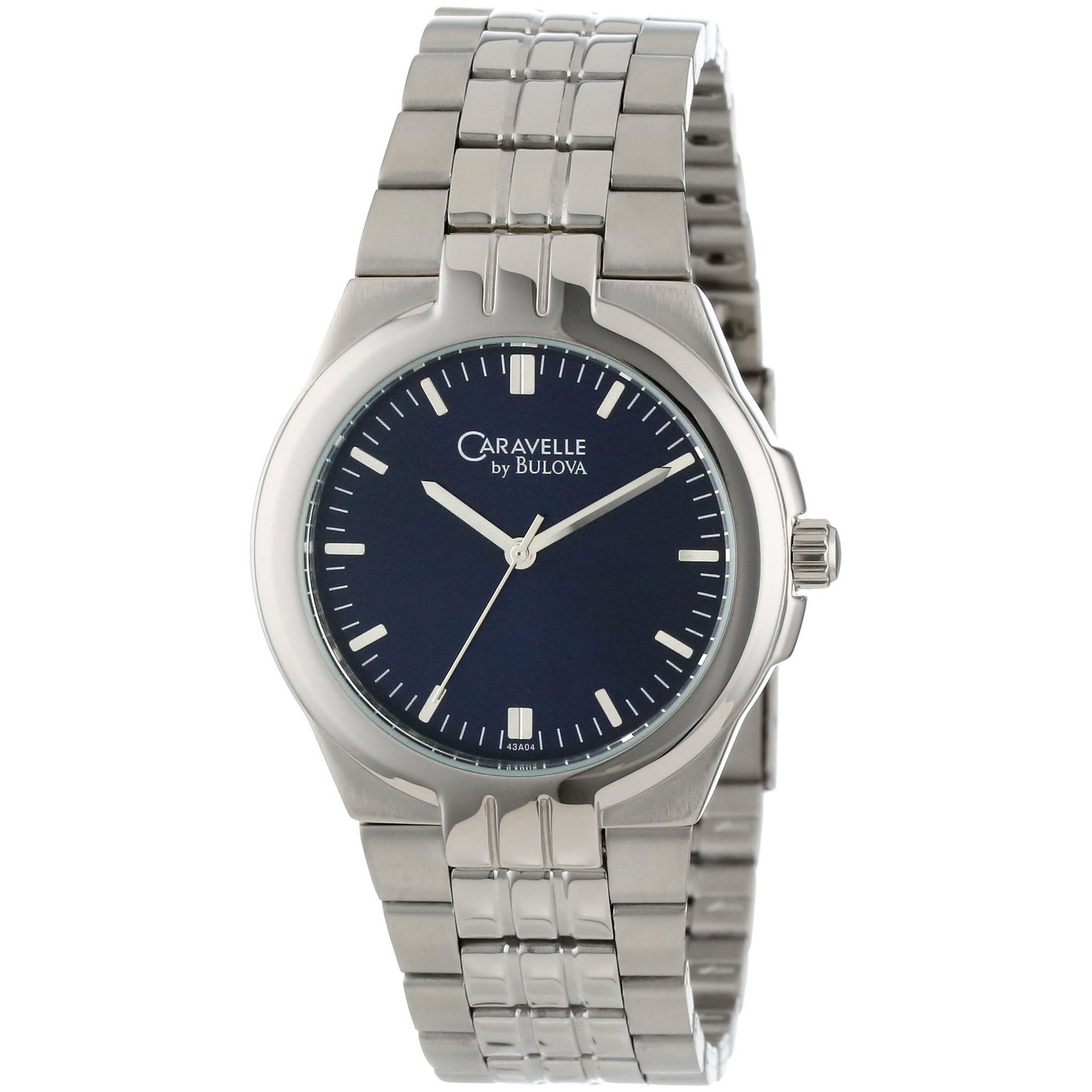 Caravelle by Bulova Men's 43A04 Bracelet Blue Dial