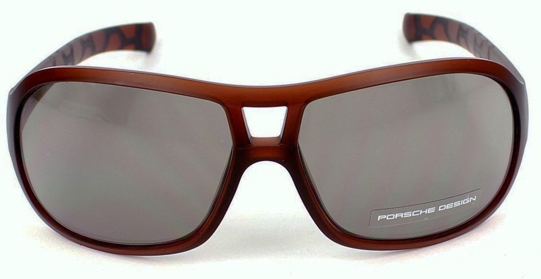 Porsche Design P8537 D Womens Transparent Brown Sunglasses