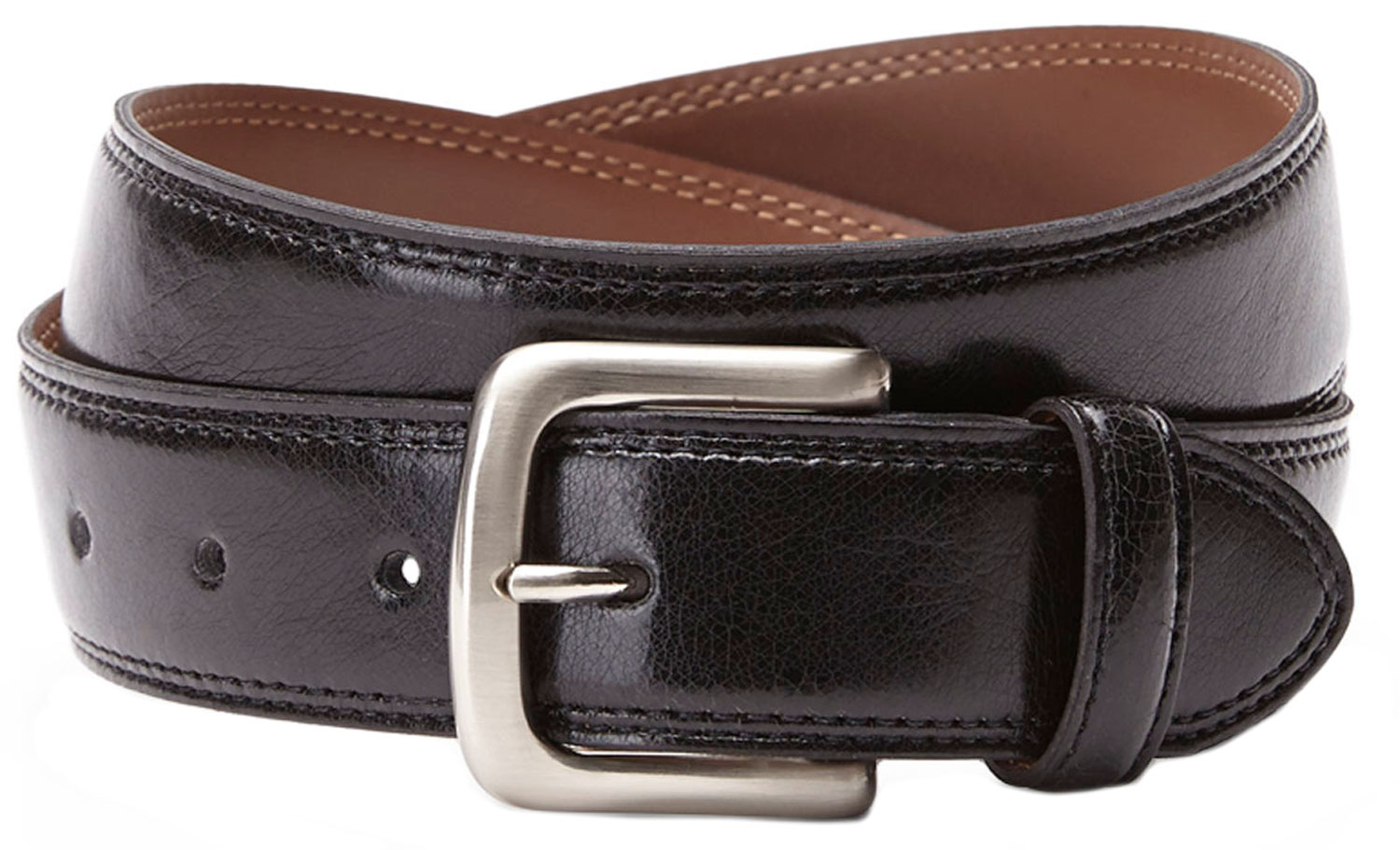 Bosca B03724 04 Men's Black Genuine Leather Belt M