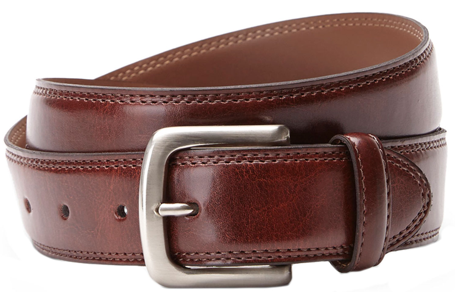 Bosca B03724 03 Men's Brown Genuine Leather Belt M