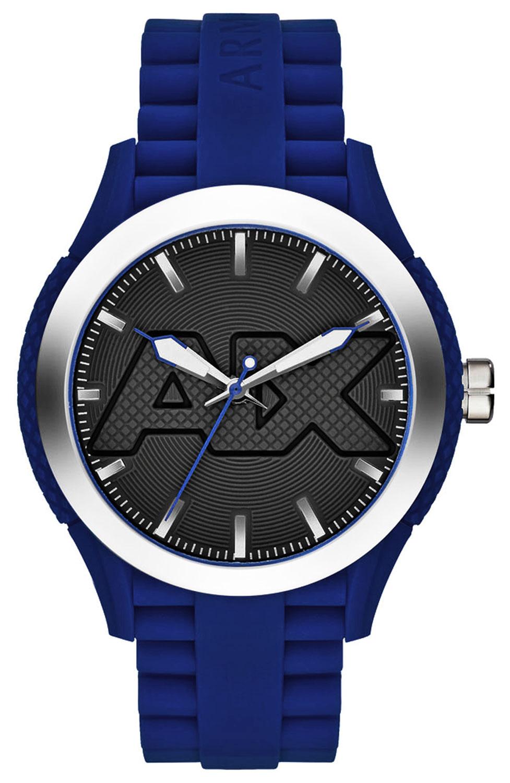 Armani Exchange AX1381 Men's Grey Dial Blue Silico