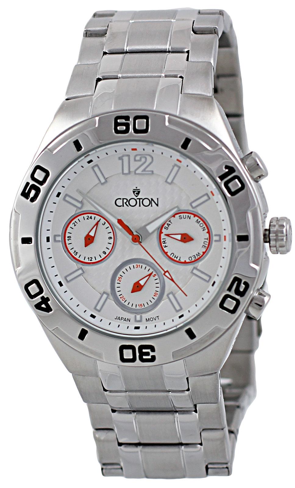 Croton CA301271SSSL Men's Multifunction Analog Wat
