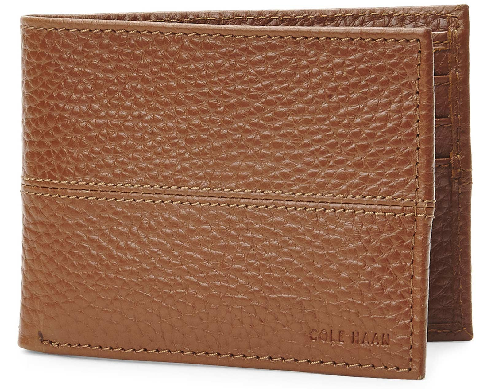 Cole Haan CHDM21009 Slim Billfold Men's Brown Leat