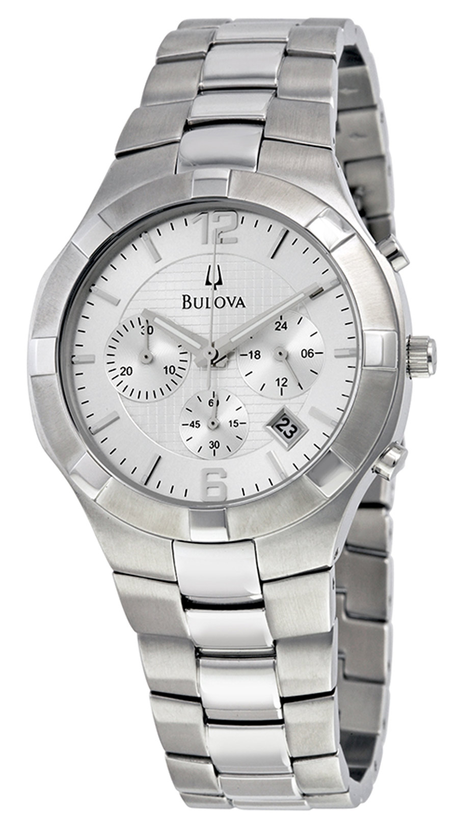 Bulova 96B146 Men's Analog Chronograph Watch Silve