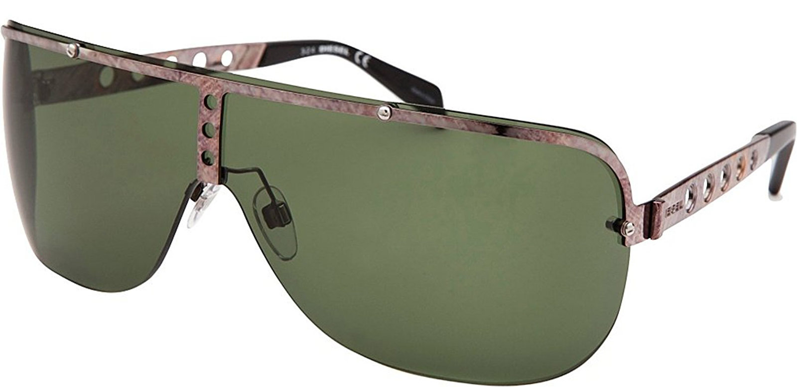 Diesel DL0126 08N Men's Bronze Sunglasses Green Le