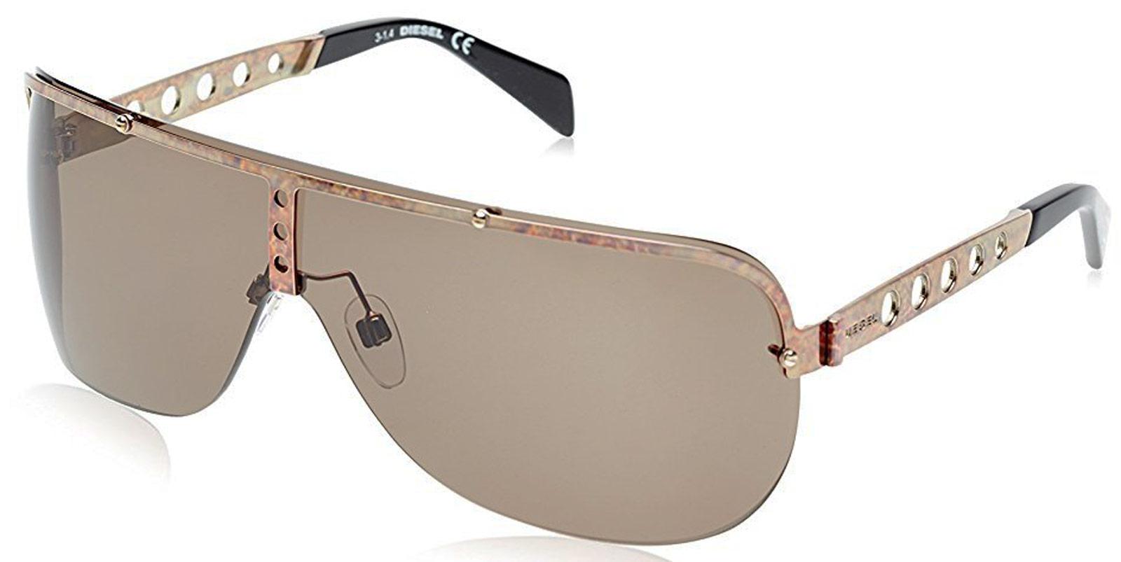 Diesel DL0126 38V Men's Shield Bronze Sunglasses B