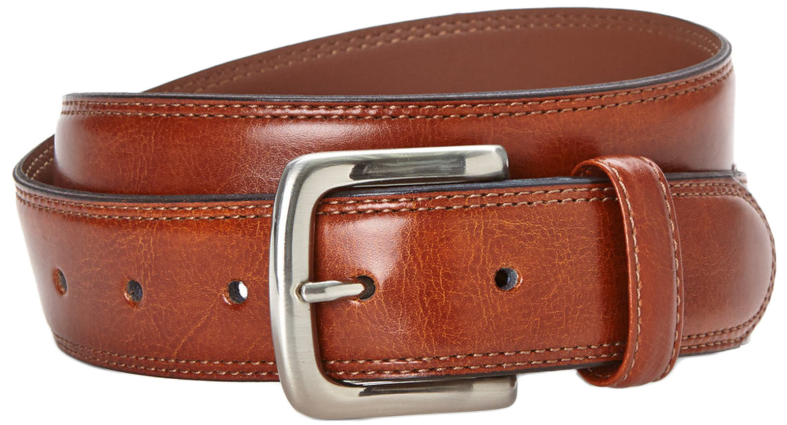 Bosca B03724 01 Men's Tan Leather Belt Metal Buckl
