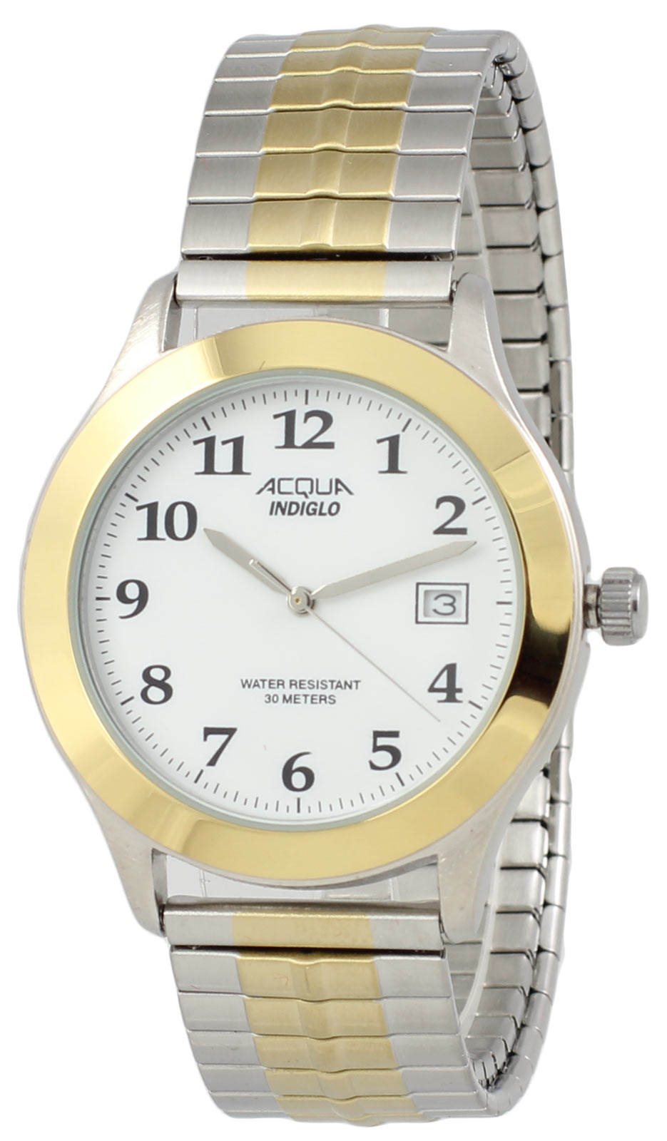 Acqua by Timex Men's Analog Round Two-tone Watch E