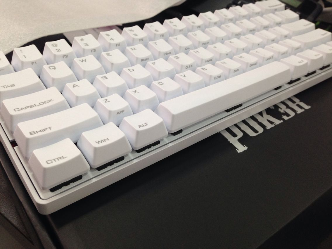 White KBC Poker 3 61keys Mechanical Keyboard Cherry MX