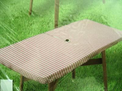 Mistyceeee Rectangle Vinyl Tablecloth ZIPPER Patio UMBRELLA