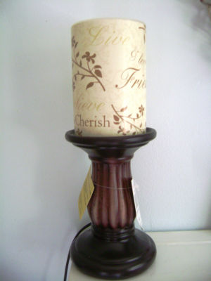 Salt Lamps Electric Or Candle : Mistyceeee : Electric Pillar Candle Lamp~Wax Shade~Friendship Theme