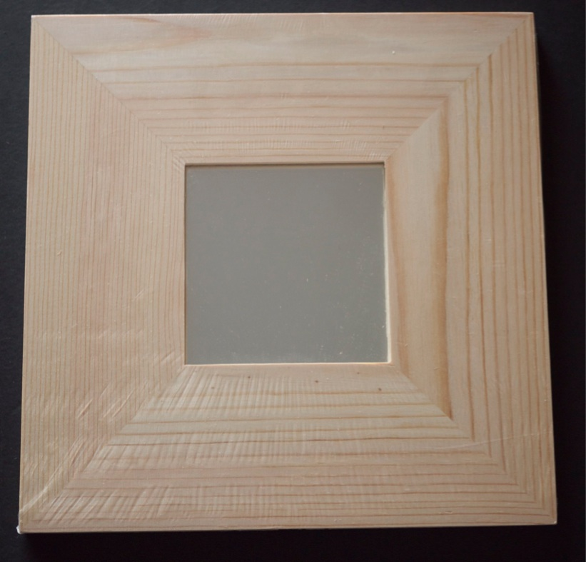 Juliagreen ikea plain wooden square mirror craft or art for Wooden mirror frames for crafts