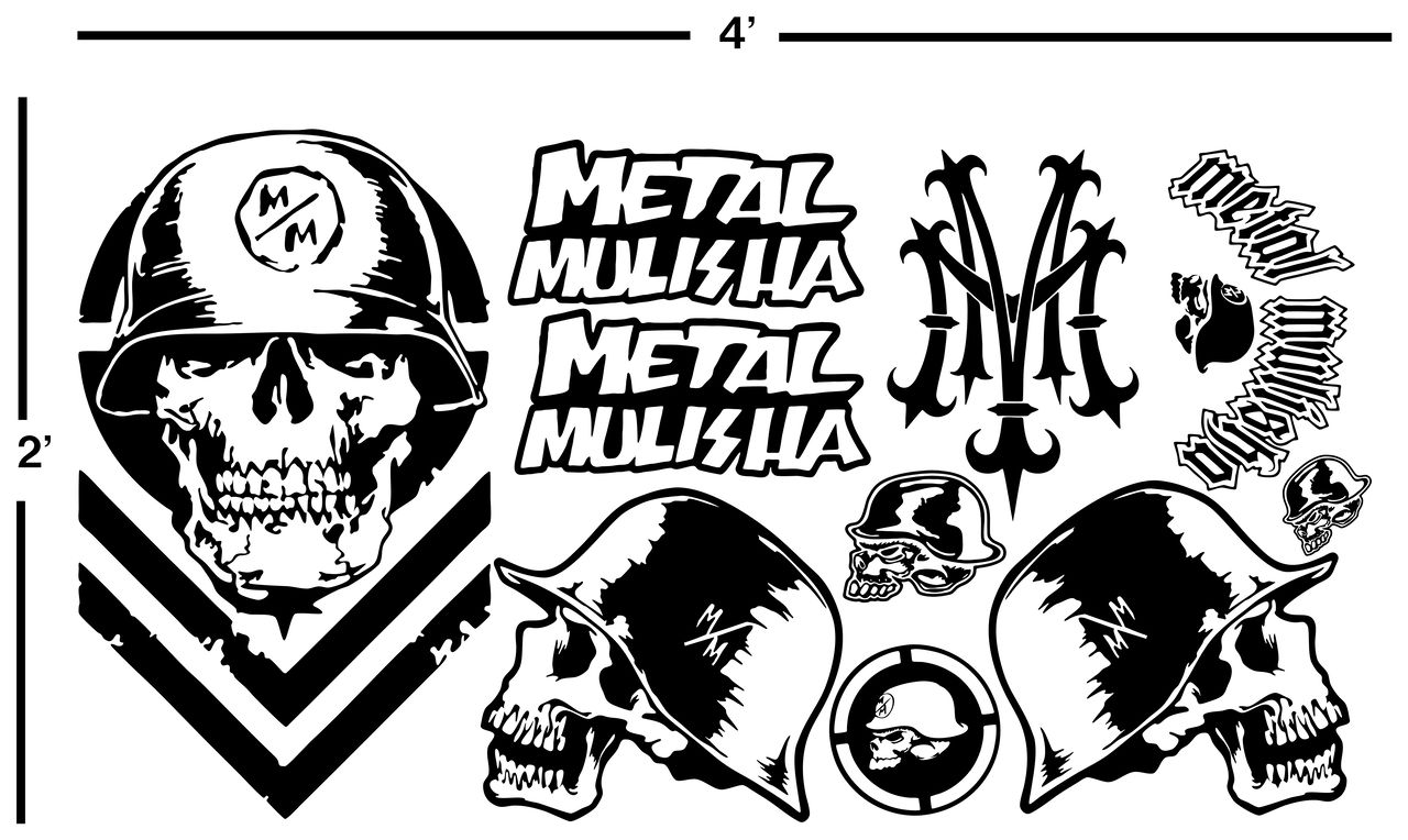 439 Metal Mulisha Vinyl Decal Sheet Stickers Motocross