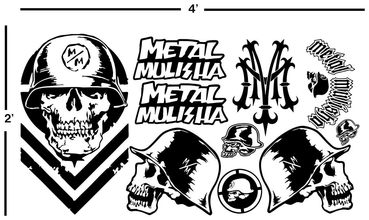 4  metal mulisha vinyl decal sheet stickers motocross metal mulisha logos metal mulisha vector logos