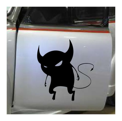 Devil Vinyl Sticker Decal Demon Auto Wall Window Goth