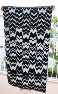 nwt missoni for target famiglia wavy bath beach towel black white