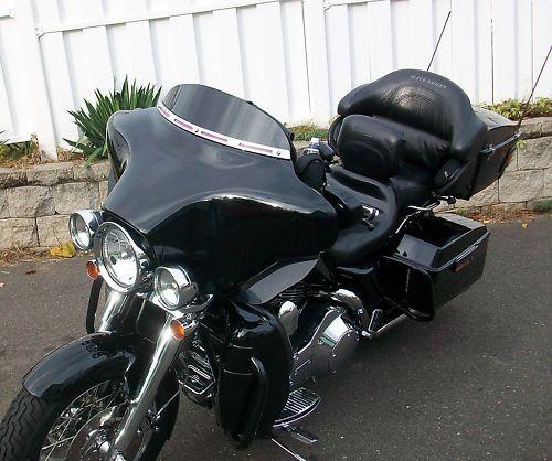4 black windshield for 86 95 harley davidson touring. Black Bedroom Furniture Sets. Home Design Ideas