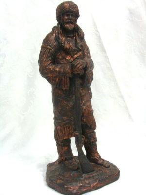 Lonergans Knives Western Mountain Man Sculpture Bronze