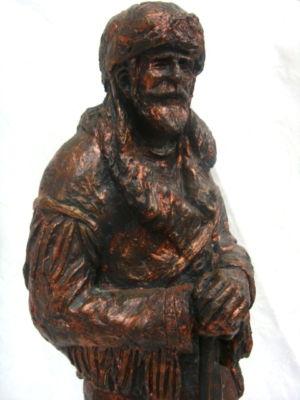 Lonergans Knives Western Mountain Man Sculpture Bronze Statue D Monfort 1976 Signed