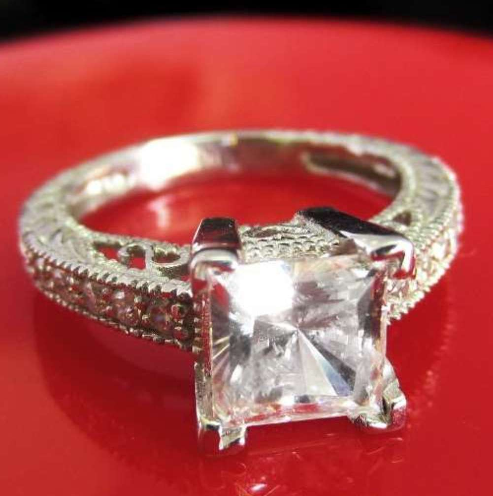 ring unique band princess engagement man of wedding made diamond cut