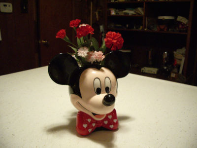 "NEWYORK217 : MARKED ""DISNEY"" MICKEY MOUSE CERAMIC VASE ..."