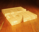 Photo of MO4 Age 4-5+ Preschool Kindergarten Booster Wood Blocks in Hard Rock Maple