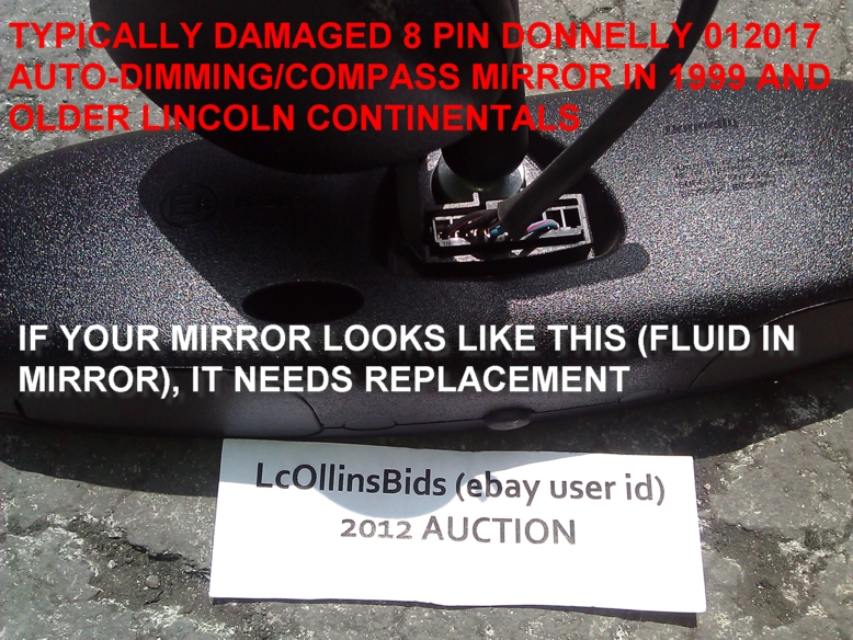 8PINMESSEDUP2 factory lincoln auto dimming inside rear view mirror (*8 pin,Donnelly Rear View Mirror Wiring Diagram 7 Pin