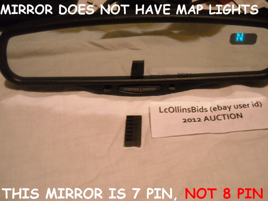Factory Lincoln Auto Dimming Inside Rear View Mirror 8