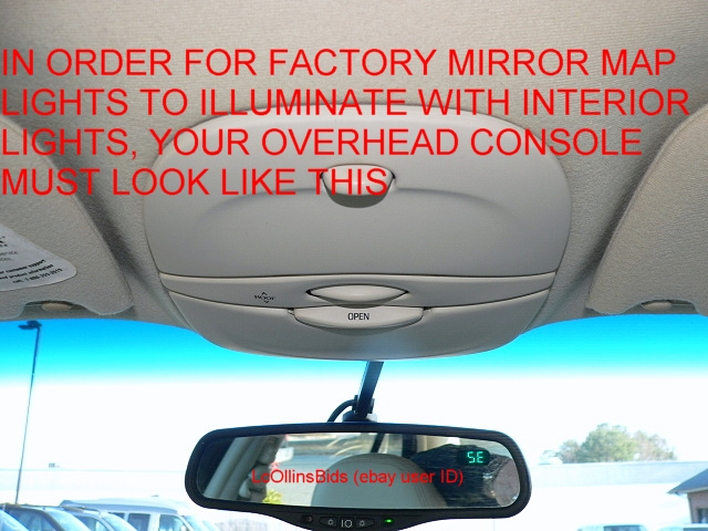 Map Lights Compass Factory Lincoln Auto Dimming Inside