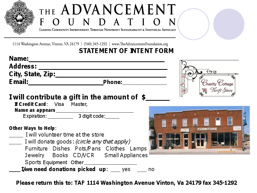 Donate – The Advancement Foundation
