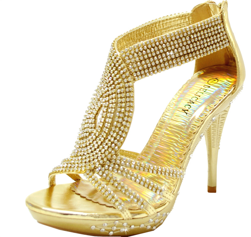 gold prom shoes | Eliteweddinglooks