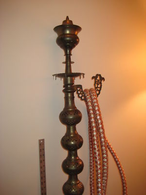 Thingamabobs24 7 Vintage Brass Hookah Water Pipe 56