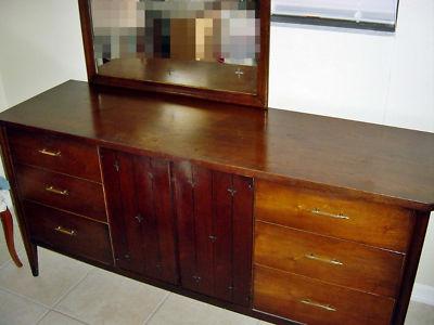 vintage mid century modern broyhill saga bedroom set ffortunate