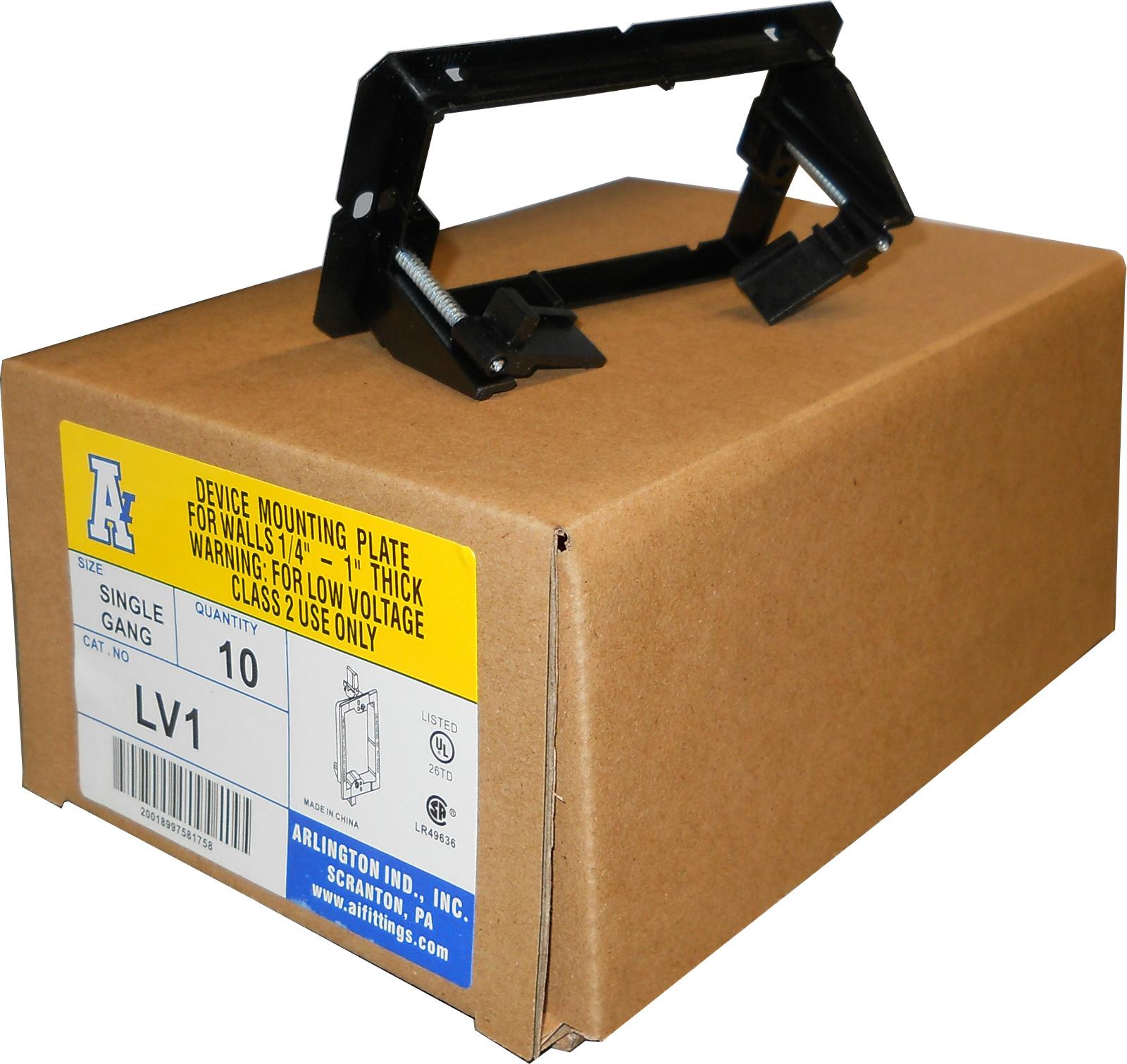 Arlington Lv1 Low Voltage Mounting Bracket 1 Gang Black