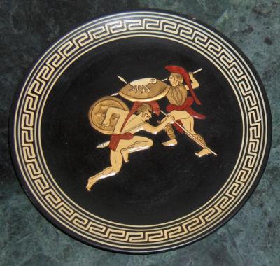 Audacityv Rare Handpainted Greek Spyropoulos Signed