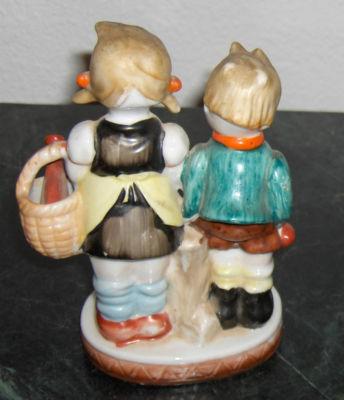 Audacityv Vintage Ceramic Boy Girl Figurines Lamb Occupied Japan Dutch Holland Blond Old