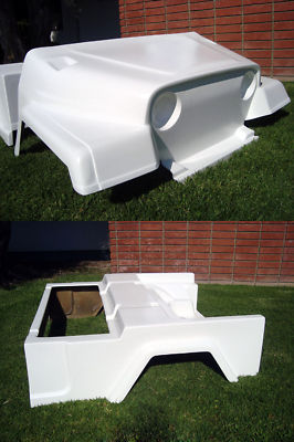 FRONT REAR BODY COWL JEEP CUSTOM CLUB CAR DS GOLF CART , LSV Carts