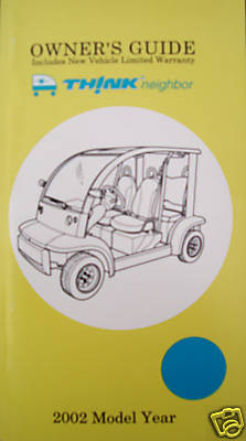 ford  neighbor owners guide nev manual book lsv carts
