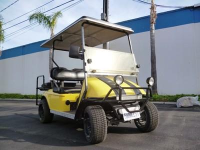 07 Electric Star Golf Cart 4 Passenger Seat Custom Black