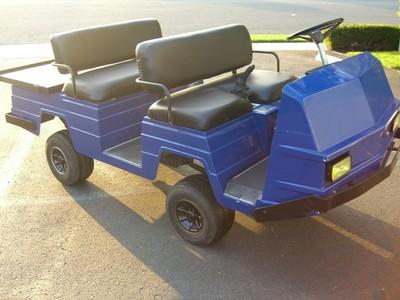 Lifted Ezgo Ez Go Blue Limo 4 Passenger Golf Cart Utility