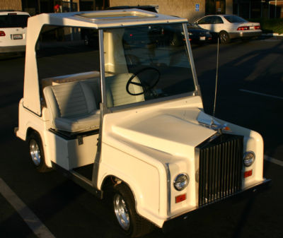 Custom Rolls Royce Royal Ride Golf Cart Electric White