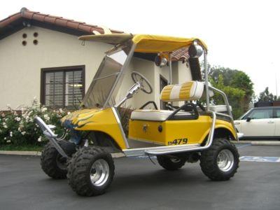 Club Car Ds Gas Golf Cart Custom Flame Paint A Arm Lifted Roll