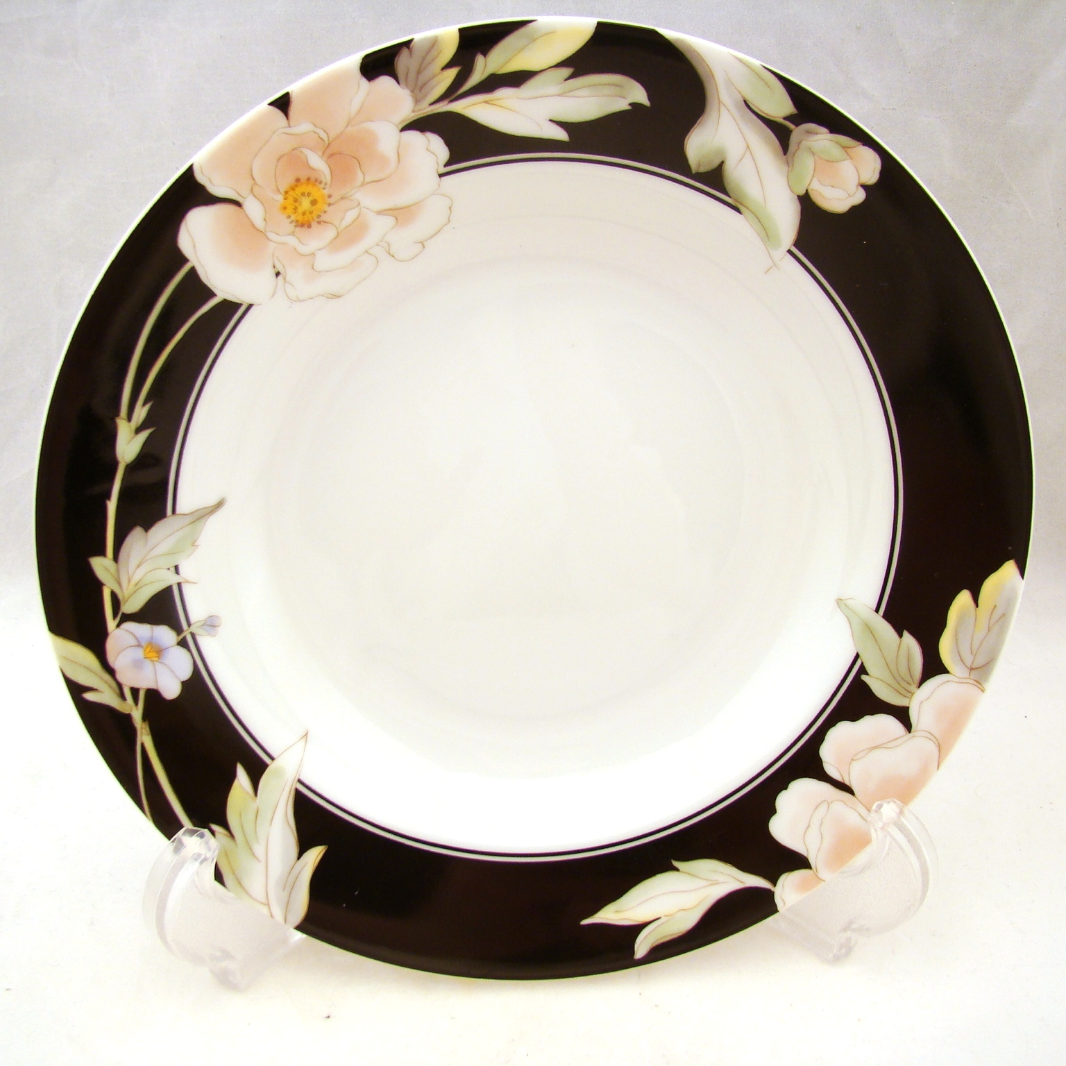 """Black Magic Finesse Fine China Salad Plate 40001  7 5//8/"""" 10 Available"""