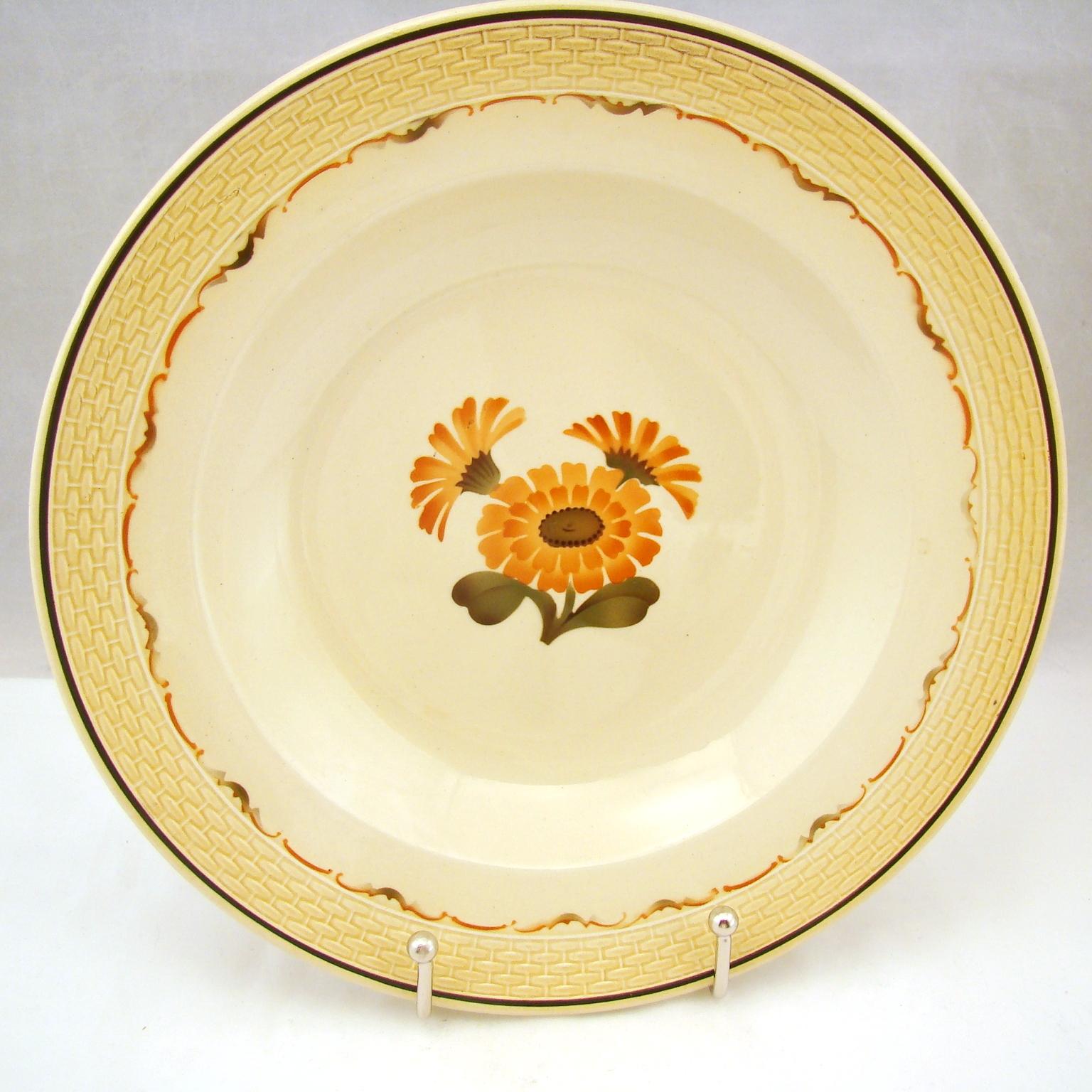 Royal Copenhagen MORGENFRUE Marigold/Zinnia Soup Bowl(s) 9 7/8  1948 Mark  sc 1 st  eBay & Royal Copenhagen MORGENFRUE Marigold/Zinnia Soup Bowl(s) 9 7/8