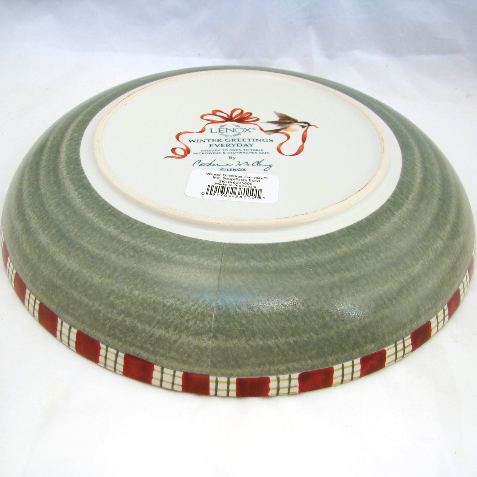 Lenox winter greetings everyday individual souppasta bowls 9 38 condition notes new with sticker kristyandbryce Choice Image